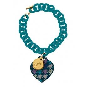 OPS Houndstooth bracelet turquoise-23VP