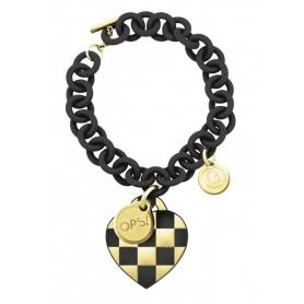 OPS Lux Black Damier bracelet and Golden-2NE