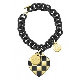 OPS Lux schwarz Damier Armband und Golden-2NE