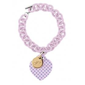 OPS-pink polka dots bracelet 4RSA