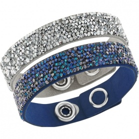Bergkristall-Manschette Armband Set-blau 5089700