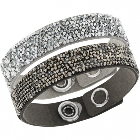 Bergkristall-Manschette Armband Satz-grau 5089704