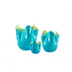 Two-toned Handkerchief vase blue/medium green-to 700.02