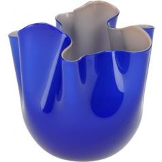 Two-toned Handkerchief vase blue/grey large-B 700.00