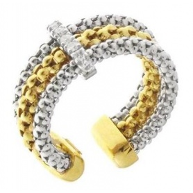 Gold Strech Multiple Ring whit diamond - 1A06555BB2140