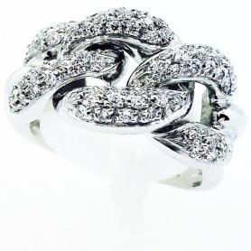Anello a catena con Diamanti tagilo  Brillante - AB13295