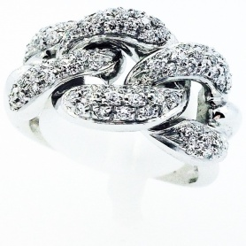 White gold ring with natural Diamonds - AB13295