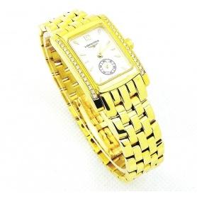 Longines Dolce Vita-Uhr in Gelbgold und Diamanten-L47928772