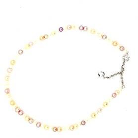 Multicolor pearls necklace Mimì elastica - C023XO4