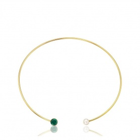 Collana Bright Tous rigida con cristallo e perla -  414822510