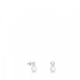 Orecchini orsetto Tous Bear con perla in argento - 214833510
