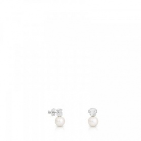 Teddy Bear Tous earrings in silver with pearl - 214833510