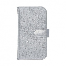 Swanflower Silver Smartphone Custodia orizzontale - 5048972