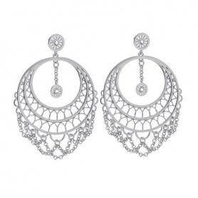 Damen-Ohrringe in Messing rhodinierte Anhänger-Frida 1607890