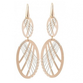 Evanescence pink bronze earrings - 1602870