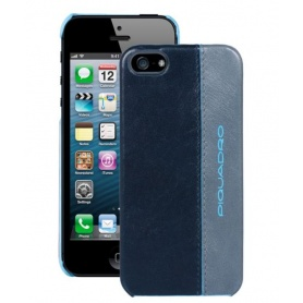 Guscio rigido per iPhone5C in pelle Blue Square - AC3053B2/BGR