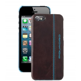 Guscio rigido per iPhone5C in pelle Blue Square - AC3253B2/MO