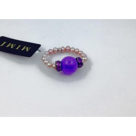 Anello Mimì perle Giada Lavanda - A023A3L