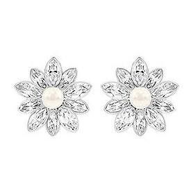 Cinderella-Blume-Lobus Ohrringe mit Perle-5118319