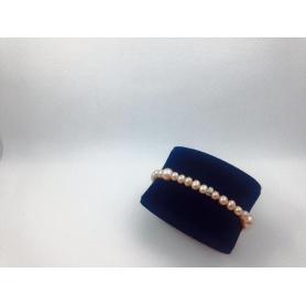 Bracciale elastica con perle rosa new - B270ARP