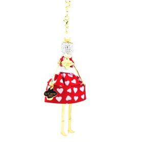 Collana bambola Le Carose925 San Valentino rossa - CAR3cuorerosso