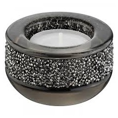 Shimmer Crystal candle holder, and grey-5108876