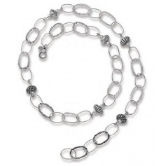 Silver necklace Chanel onions beads - 6943
