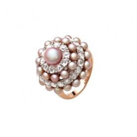Mimì Garbo gold ring whit Pearls and Sapphire - A238C3Z