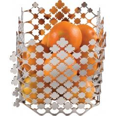 Fruit basket in steel Blossom - EMA01