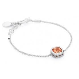 Rosa Topas Armband Silber Nachrichten-RMB09