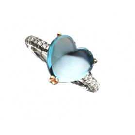 Anello Mimì Juliet in Oro con Topazio e Diamanti - A305C8TB
