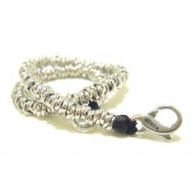 Silver Bracelet big knots - SPBR268