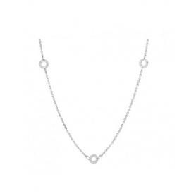 Drei silberne Halskette Charme-CL14