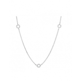 Necklace Silver three charms - CL14