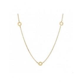 Drei silberne Halskette Charme-CL15