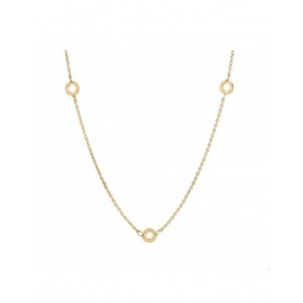 Gold plated silver  three charms necklace - CL15