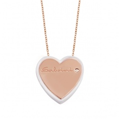 Heart Necklace Salvini gold and ceramic - 20060014