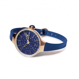 Cherìe Diamond Gold Watch Blue-Reifen
