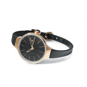 Orologio Cherìe Diamond Gold Hoops nero - 2483LGD07