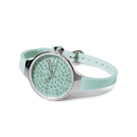 Orologio Cherìe Diamond Hoops acquamarina