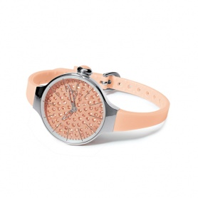 Cherìe Watch Diamond Hoops Aprikose