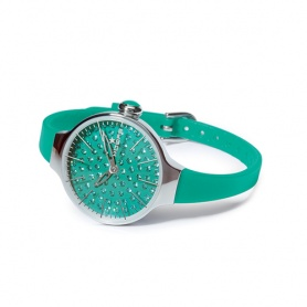Watch Cherie Diamond Hoops green water