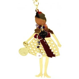 Collana bambola Le Carose Gold viola