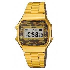 Casio Jahrgang gold-braun-Camouflage anni70