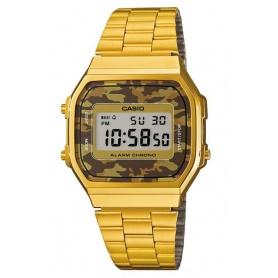 Watch Casio vintage 70s golden brown camouflage