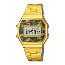 Watch Casio vintage 70s golden camouflage brown / green