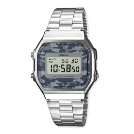 Watch Casio vintage 70s camouflage gray