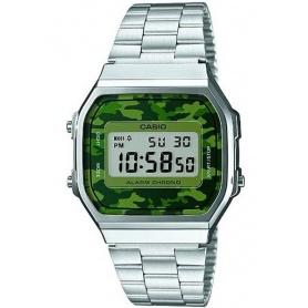 Casio Jahrgang Uhr Camo grün anni70