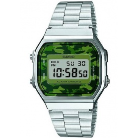 Watch Casio vintage 70s green camouflage
