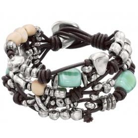 Bracciale Uno de50 con pelle,metallo e beads - Good Rock